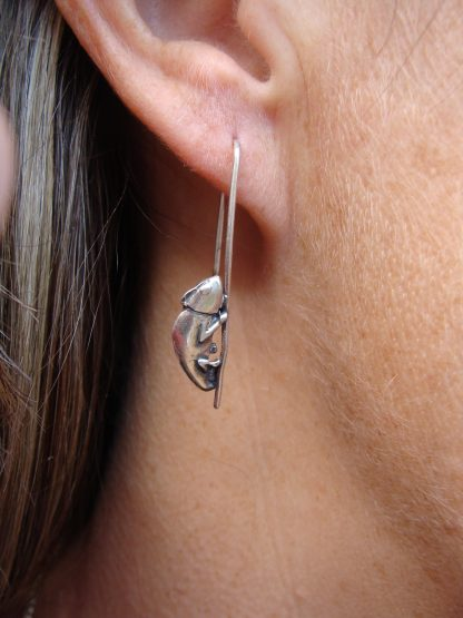 Chameleon Earrings in Sterling Silver