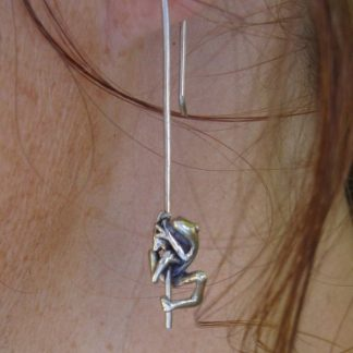 sterling silver frog earrings - goldfish jewellery design studio