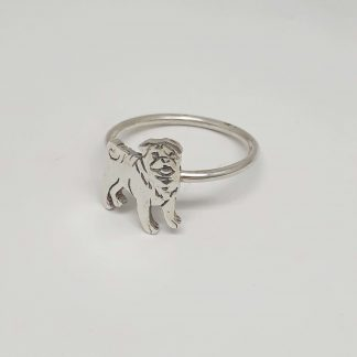 Sterling Silver Pug Stack Ring - Goldfish Jewellery Design Studio