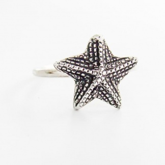 Sterling Silver Starfish Stack Ring - Goldfish Jewellery Design Studio