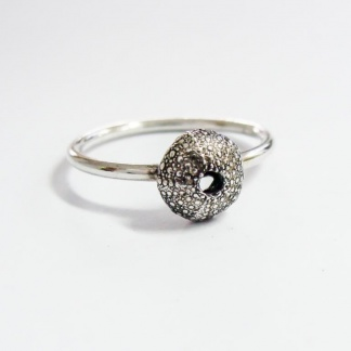 Sterling Silver Sea Urchin Stack Ring