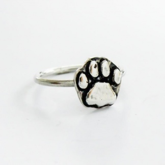 Sterling Silver Lion Paw Stack Ring - Goldfish Jewellery Design Studio