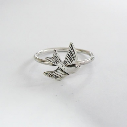 Sterling Silver Swallow Stack Ring