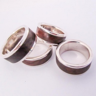 Sterling Silver Hardwood Ring