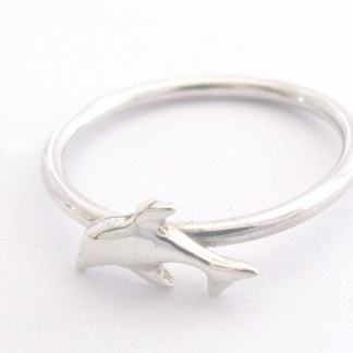 Goldfish Jewellery Design Studio - Sterling Silver Dolphin Stack Ring
