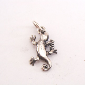 Sterling Silver Gecko Charm