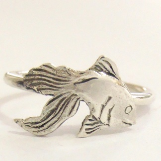 Sterling Silver Goldfish Stack Ring - Goldfish Jewellery Design Studio
