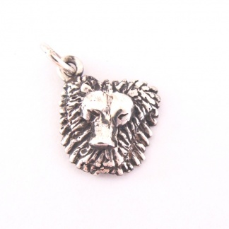 Sterling Silver Leo Lion Head Charm