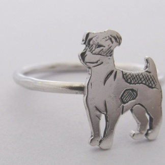 Sterling Silver Jack Russell Stack Ring
