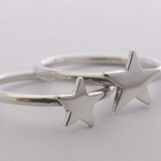 Sterling Silver Star Stack Ring