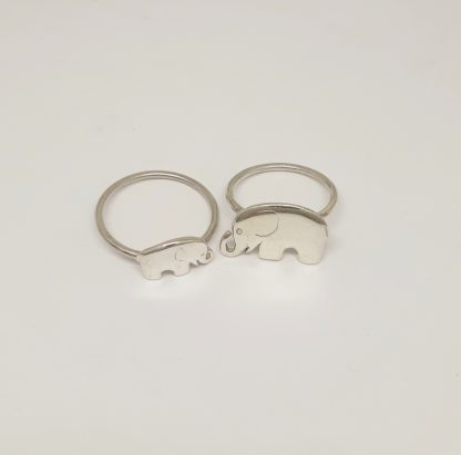 Sterling Silver Elephant Stack Ring - Goldfish Jewellery Design Studio