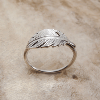 Sterling Silver Feather Stack Ring - Goldfish Jewellery Design Studio