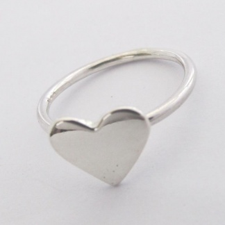 Sterling Silver Heart Stack Ring - Goldfish Jewellery Design Studio