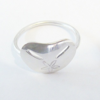 Sterling Silver Pansy Shell Stack Ring - Goldfish Jewellery Design Studio