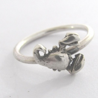 Sterling Silver Scorpio Stack Ring - Goldfish Jewellery Design Studio