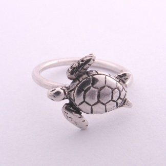 Sterling Silver Turtle Stack Ring - Goldfish Jewellery Design Studio