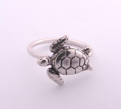 Sterling Silver Turtle Stack Ring - Goldfish Jewellery Design Studio