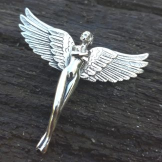 Sterling Silver Fairy Pendant With Bird Wings - Goldfish Jewellery Design Studio