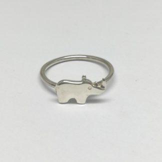 Sterling Silver Rhino Stack Ring - Goldfish Jewellery Design Studio