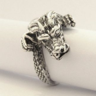 Sterling Silver Wraparound Dragon Ring - Goldfish Jewellery Design Studio