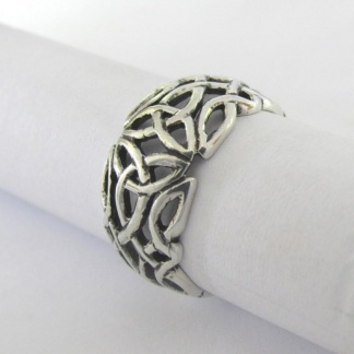 Sterling Silver Celtic Dome Ring - Goldfish Jewellery Design Studio