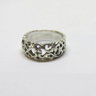 Sterling Silver Filigree Dome Ring - Goldfish Jewellery Design Studio