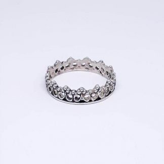 sterling silver princess crown stack ring - goldfish jewellery design studio