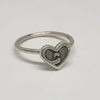 Sterling Silver Ox Heart Stack Ring - goldfish jewellery design studio