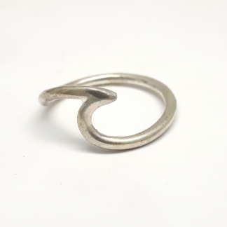 Sterling Silver Wave Ring - Goldfish Jewellery Design Studio