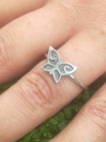 Sterling Silver Ox Butterfly Stack Ring - goldfish jewellery design studio