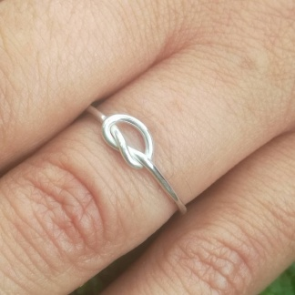 Sterling Silver Knot Stack Ring - goldfish jewellery design studio