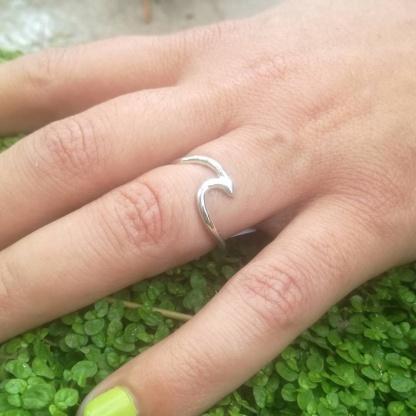 sterling silver wave ring - goldfish jewellery design studio