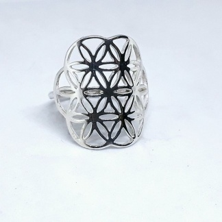 Sterling Silver Flower of Life Ring | Goldfish Jewellery Design Studio