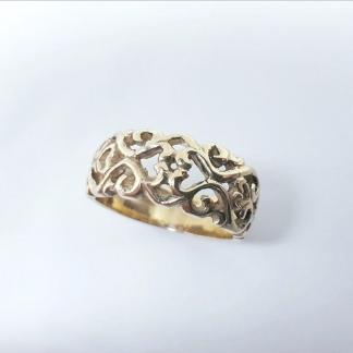 9ct Yellow Gold Filigree Dome Ring - Goldfish Jewellery Design Studio
