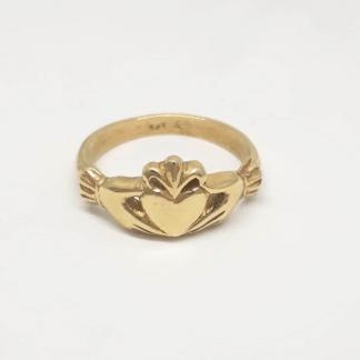 9ct Yellow Gold Claddagh Ring - Goldfish Jewellery Design Studio