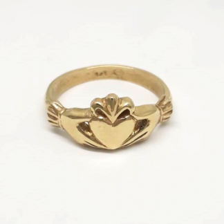 9ct Yellow Gold Claddagh Ring - Goldfish Jewellery Design Studio