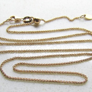 9ct Rose Gold Wheat Slider Adjuster Chain 50cm 025 gauge - Goldfish Jewellery Design Studio