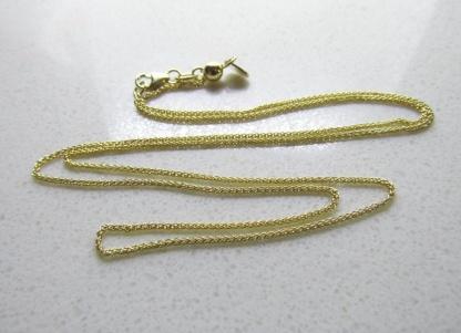 9ct Yellow Gold Wheat Slider Adjuster Chain 50cm 025 gauge - Goldfish Jewellery Design Studio