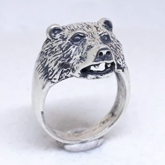 Sterling Silver Bear Ring - Goldfish Jewellery Design Studio