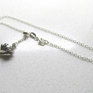 Sterling Silver Small Protea Charm on Slider Bracelet - Goldfish Jewellery Design Studio