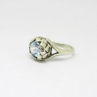 Sterling Silver Large Protea Topaz Ring - Goldfish Jewellery Design Studio