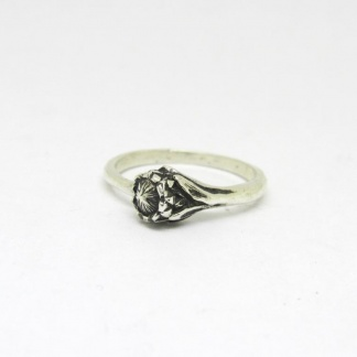 Sterling Silver Protea Stack Ring - Goldfish Jewellery Design Studio