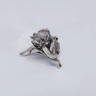 Sterling Silver Large Protea Earrings | Goldfish Jewellery Design Studio