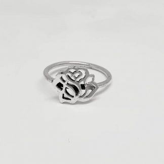 Sterling Silver Cut-out Rose Stack Ring - Goldfish Jewellery Design Studio