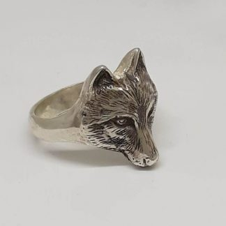 Sterling Silver Wolf Ring - Goldfish Jewellery Design Studio