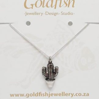 Sterling Silver Medium Cactus Charm - Goldfish Jewellery Design Store