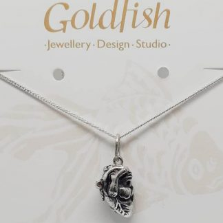 Sterling Silver Anatomical Heart Charm - Goldfish Jewellery Design Studio