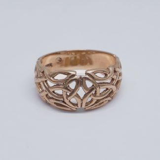 9ct Rose Gold Celtic Dome Ring - Goldfish Jewellery Design Studio