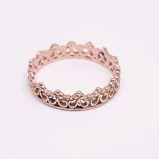 9ct Rose Gold Princess Crown Ring - Goldfish Jewellery Design Studio