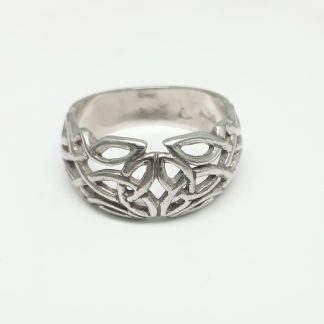 9ct White Gold Celtic Dome Ring - Goldfish Jewellery Design Studio